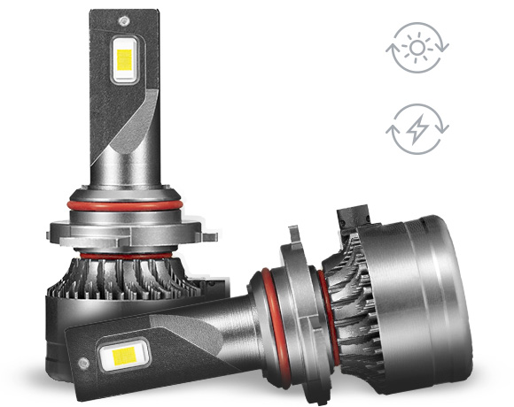 higher energy efficiency and lower fuel cost LED headlights